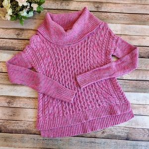 American Eagle Outfitters Pink Turtleneck Sweater